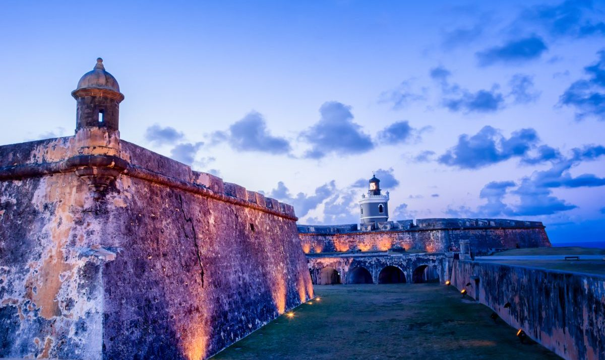 The old forts in San Juan were built in the 16th century.