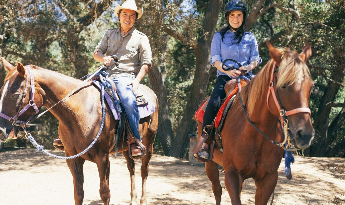 Saddle up for a lesson or trail ride at Green Acres Ranch in Temecula, California.