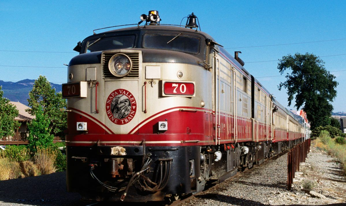 The historic Napa Valley Wine Train stops at several wineries.