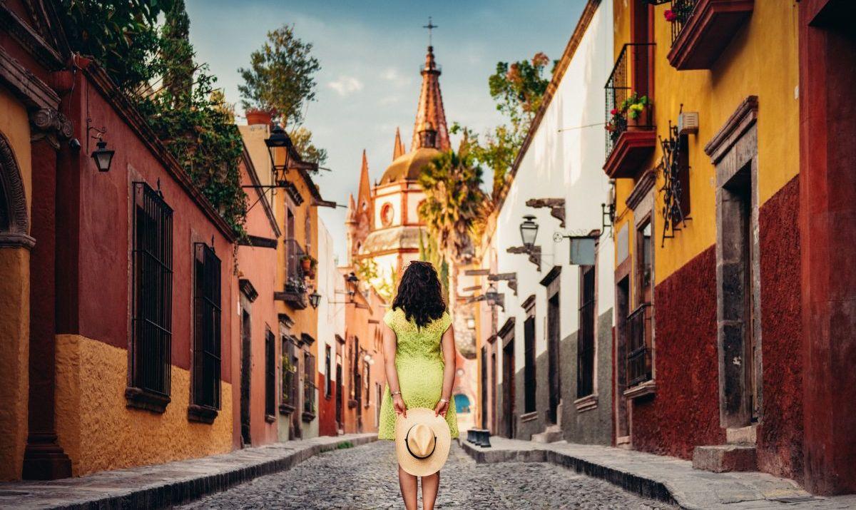 woman, mexico, street
