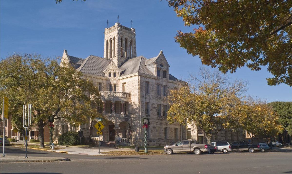 The Comal County Courthouse is one of many historic buildings in New Braunfels, Texas.