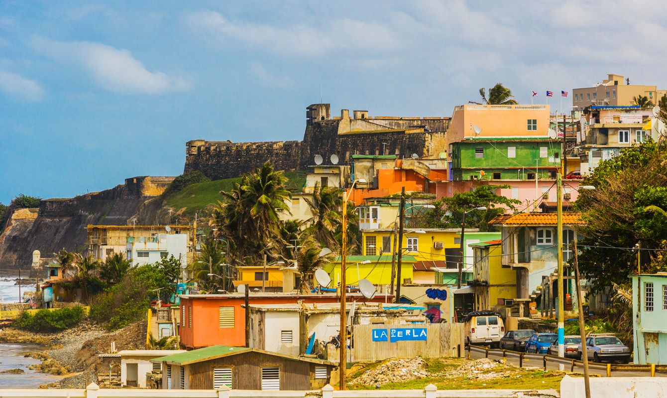 Old San Juan, view of La Perla district