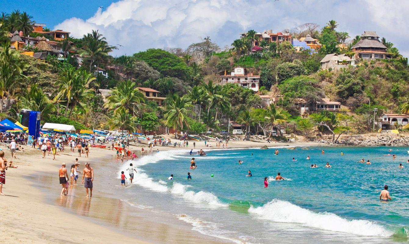 beach scene in sayulita, mexico
