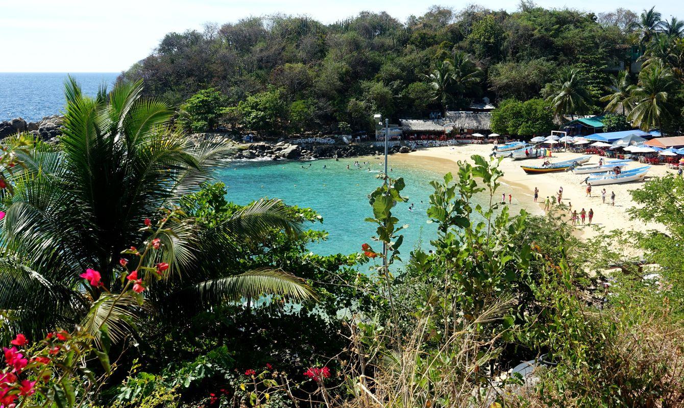 Mexico beach of Puerto Escondido