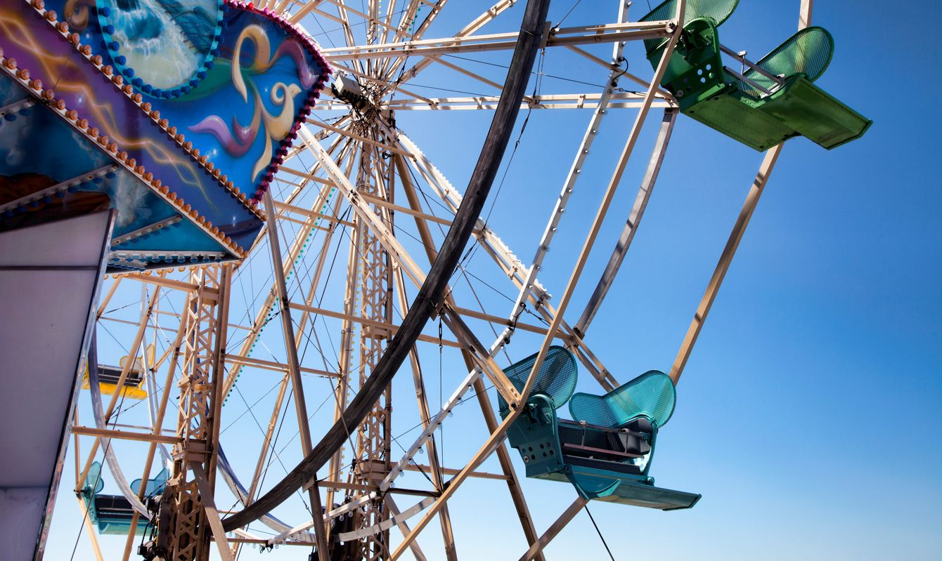 Santa Cruz Ferris Wheel at the boardwalk in Santa Cruz, California