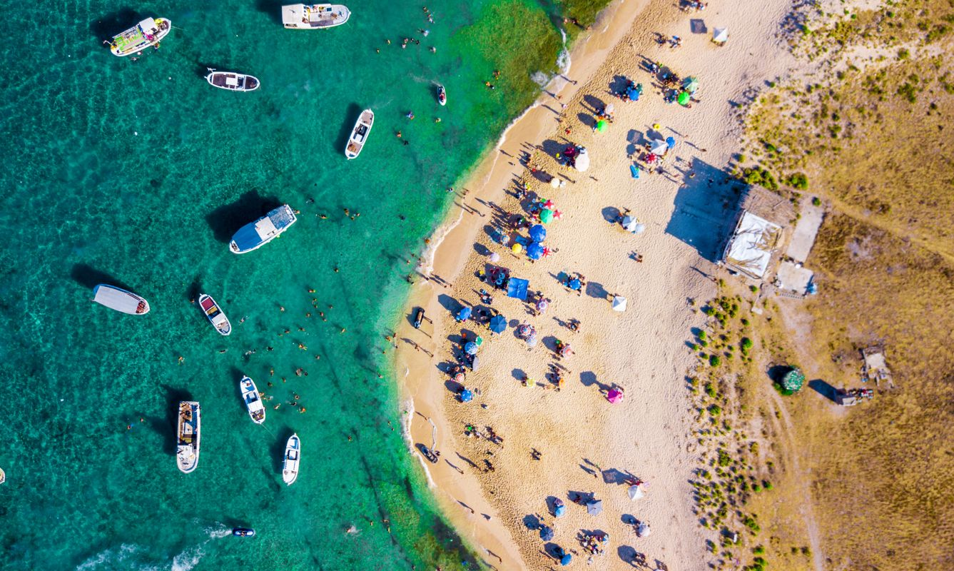 Areal drone images of the famous Rabbit Islands in North Lebanon , near Tripoli. These Islands are a natural reserve with no permits to build anything on them or use any machinery or hunt oor fish any of its animals that include rabbits!