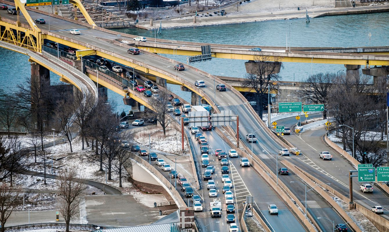 City view. Pittsburgh, Pennsylvania, USA