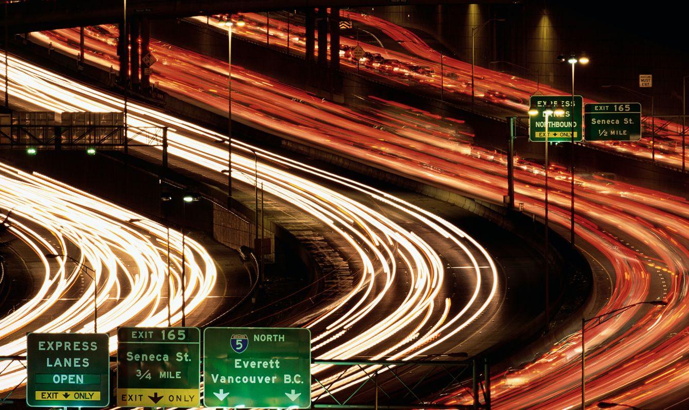 Rush Hour Traffic on Interstate 5
