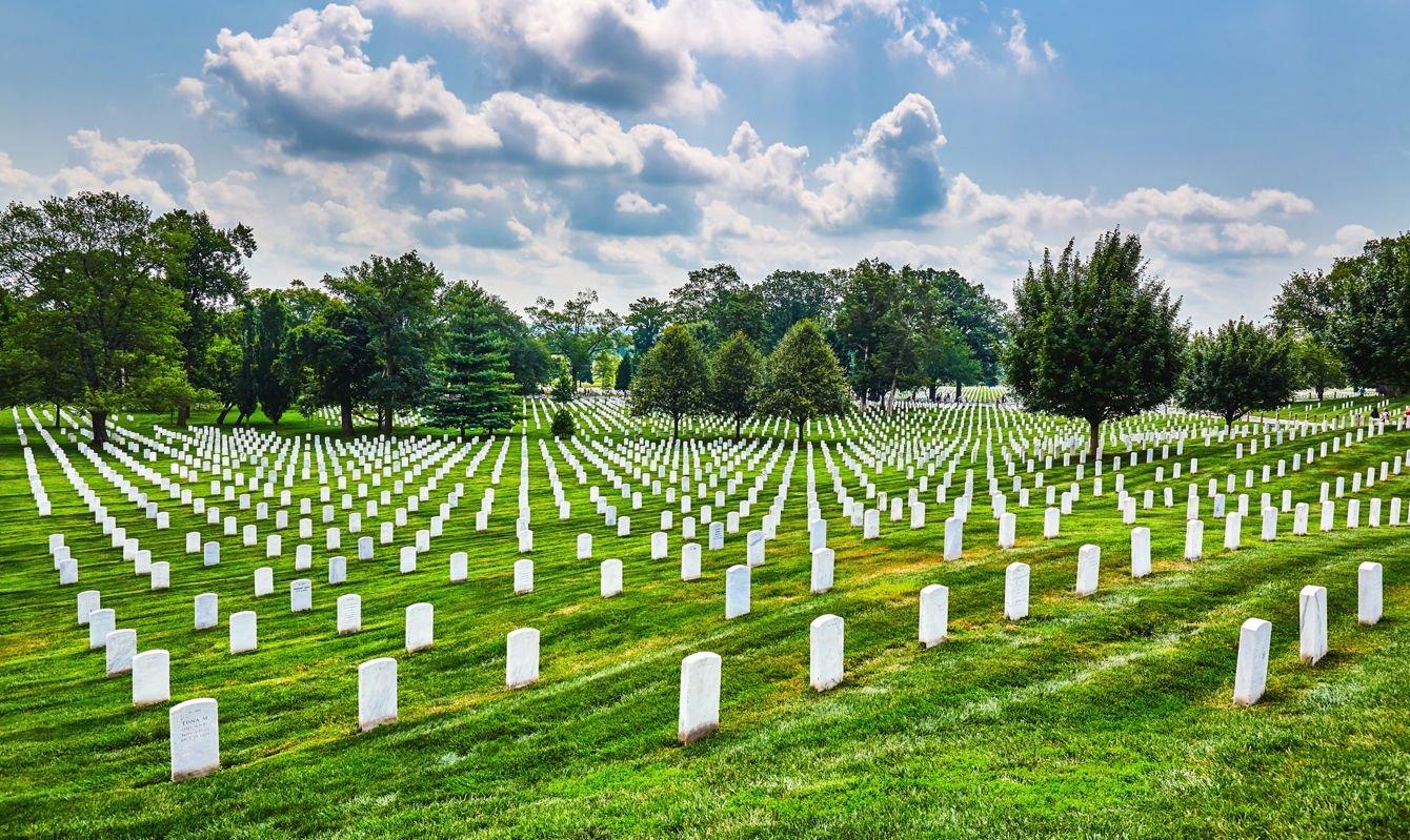 Tombstones at Arlington National Cemetery,Washington DC