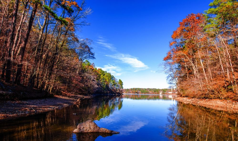 Lake Catherine State Park in Arkansas State of US