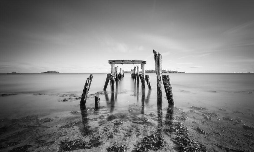 Decayed Pier, West Beach Beverly, Massachusetts, USA
