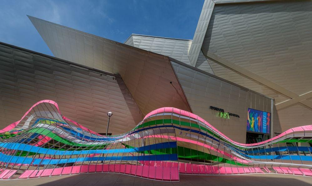 Exterior of the Denver Art Museum on July 18, 2016 in Denver, Colorado