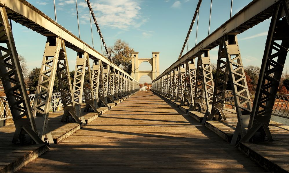 Waco Texas, Historic Suspension Bridge