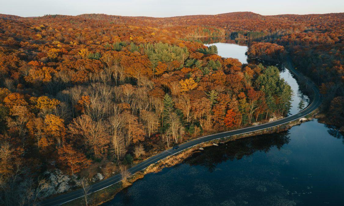Catskills in the fall