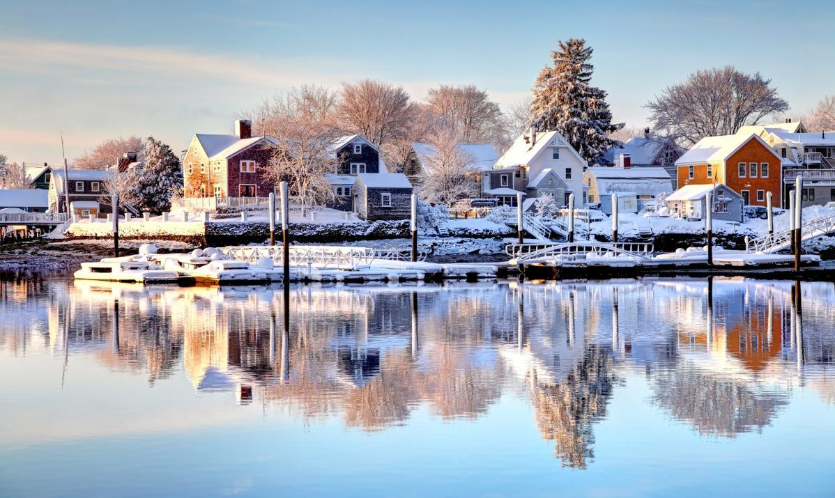 Winter in New Hampshire town