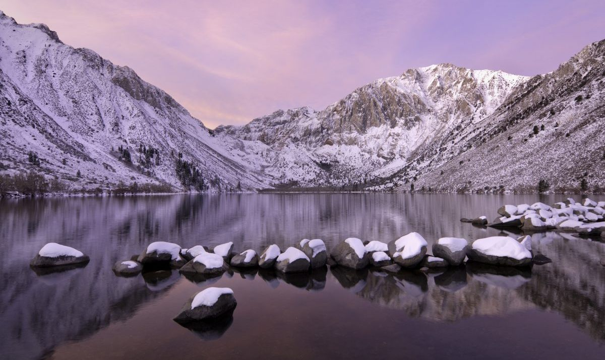 Sunrise at Mammoth Lake, California