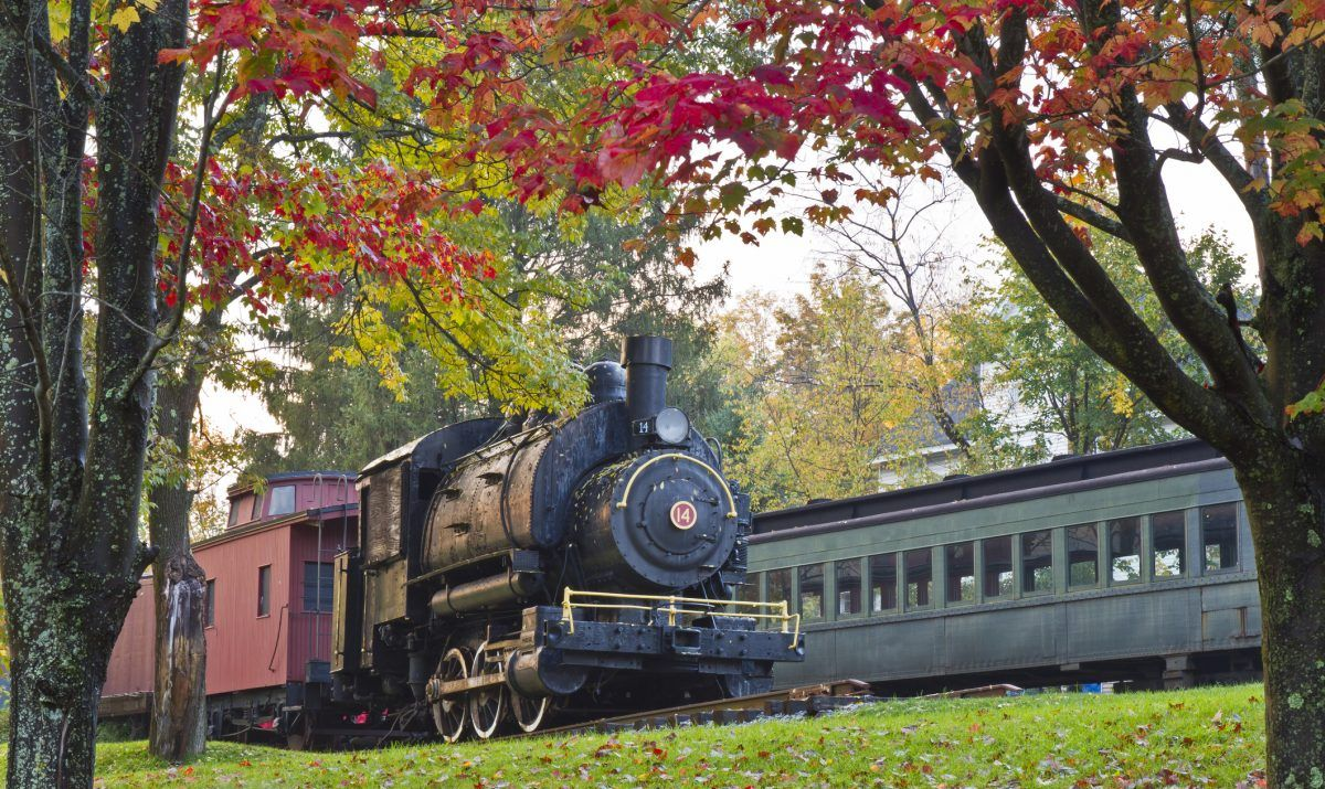 Railway train in the Catskills