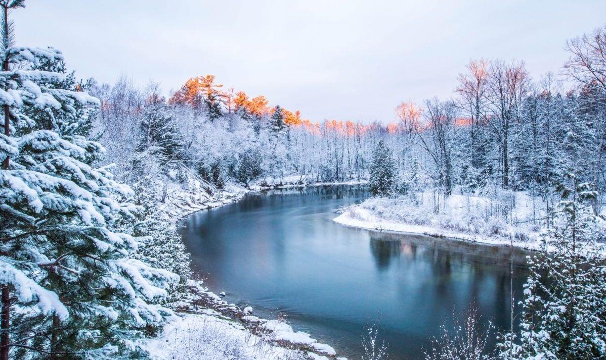 Michigan winters are white