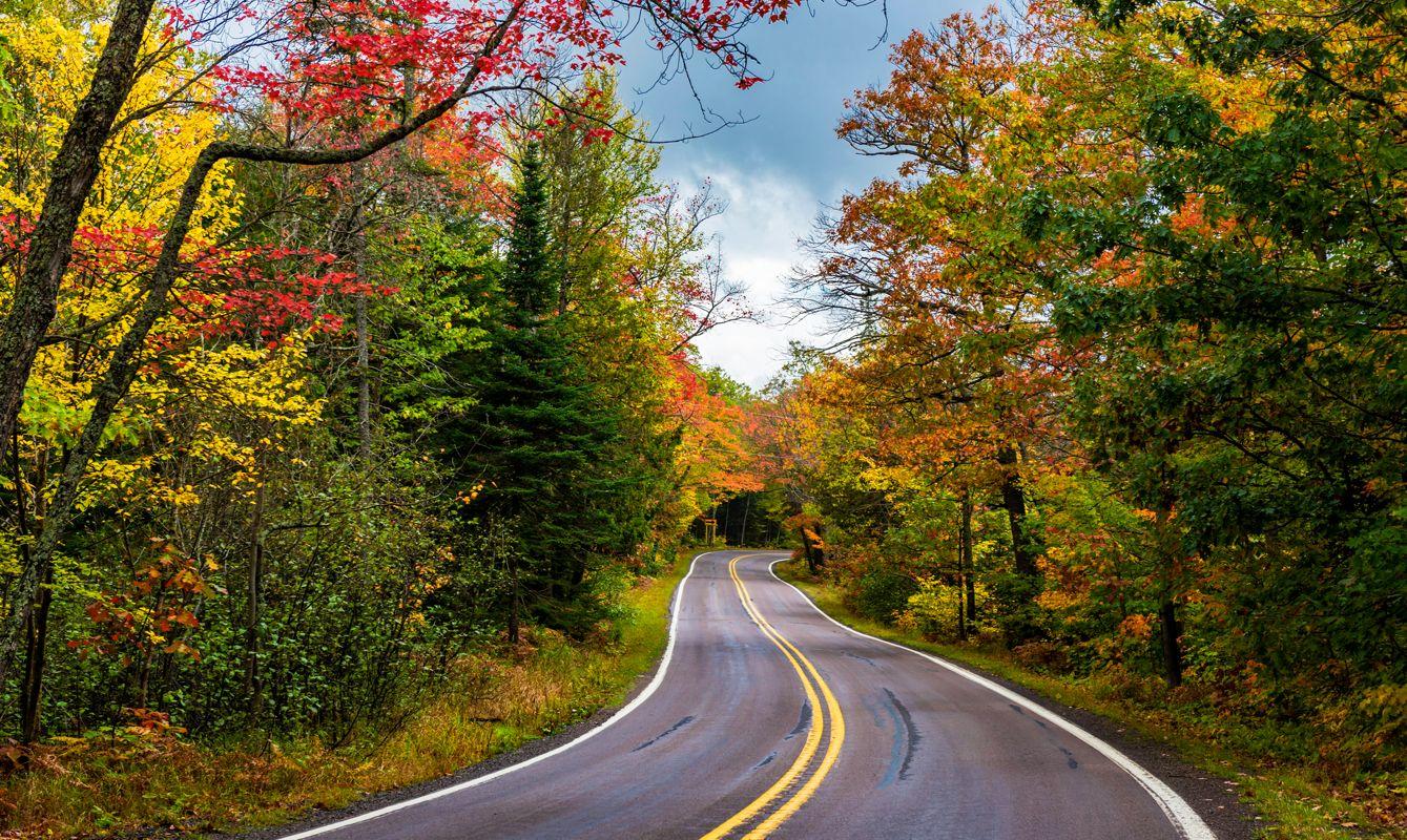 Highway 41 in Autumn