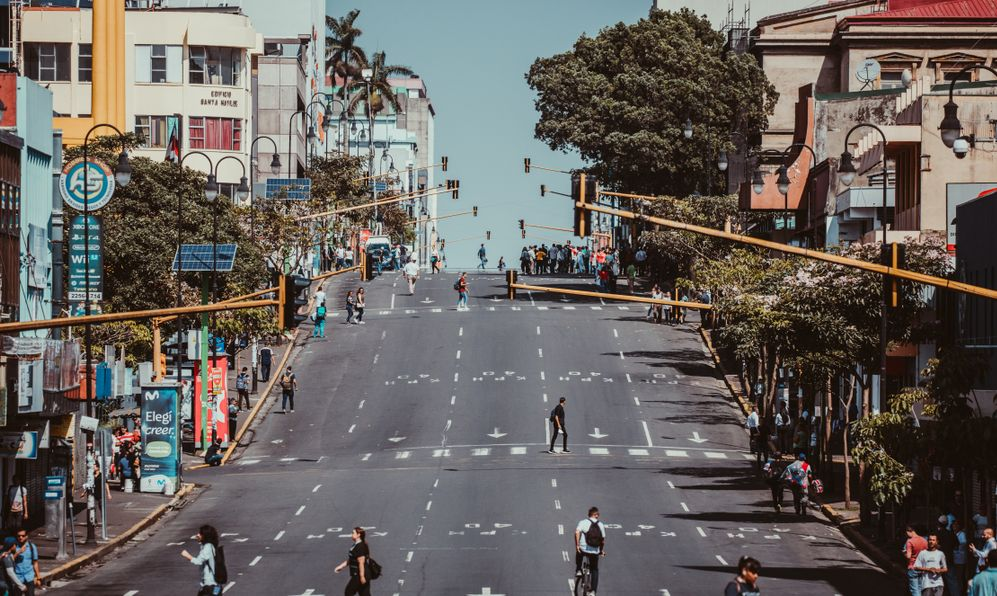 Second Avenue of San Jose, capital of Costa Rica