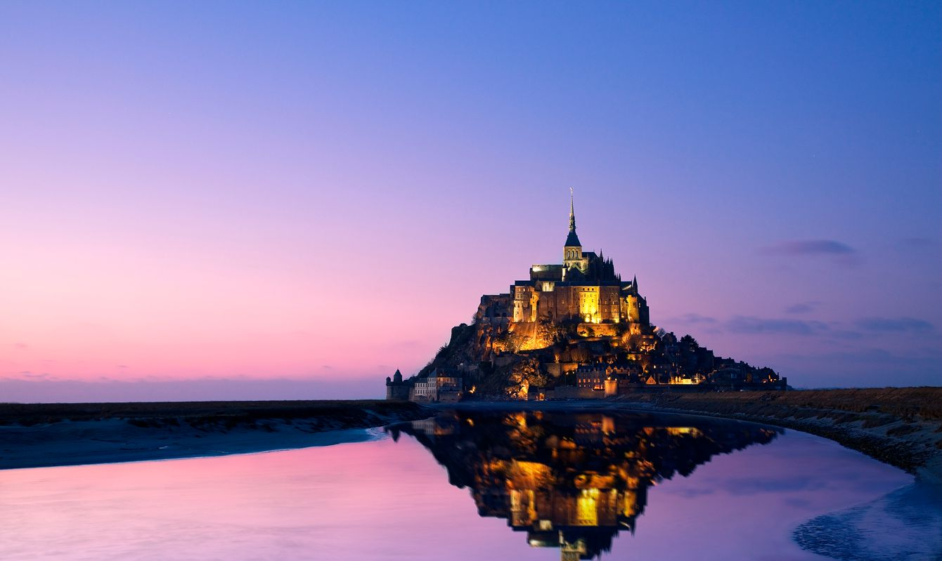 Europe, France, Mont St.-Mich Sylvain Sonnet el, listed as World Heritage by UNESCO