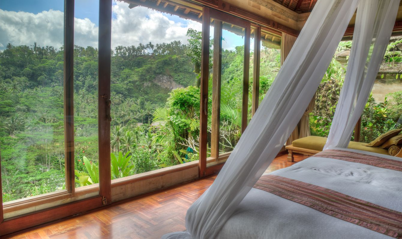 Luxury Villa with jungle viewMultiple exposures used to capture full range of contrast