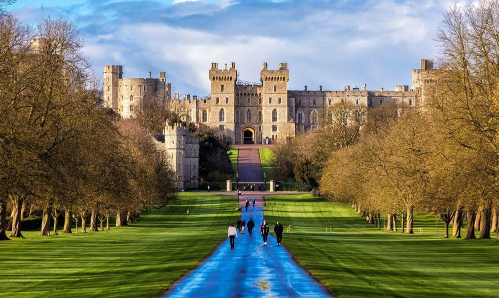Outside landscape of Medieval Windsor Castle