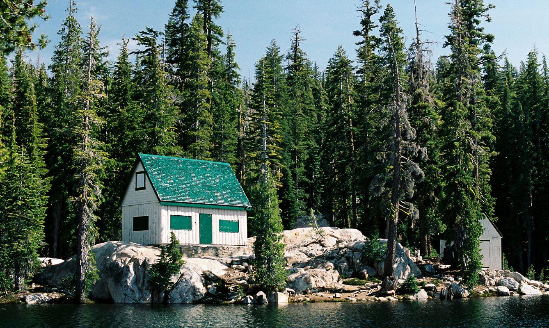 A seasonal summer/winter lakeside mountain cabin