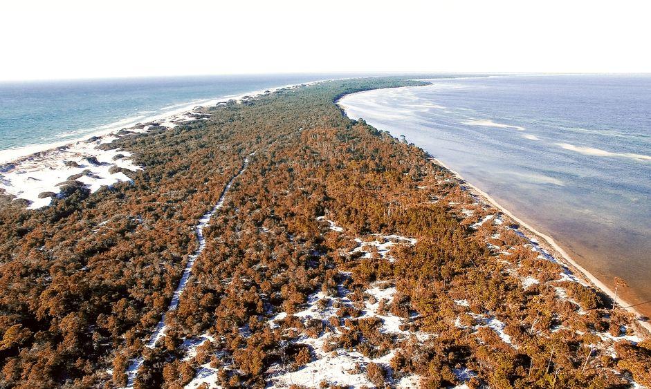 Aerial view of Cape San Blas, Florida - USA.