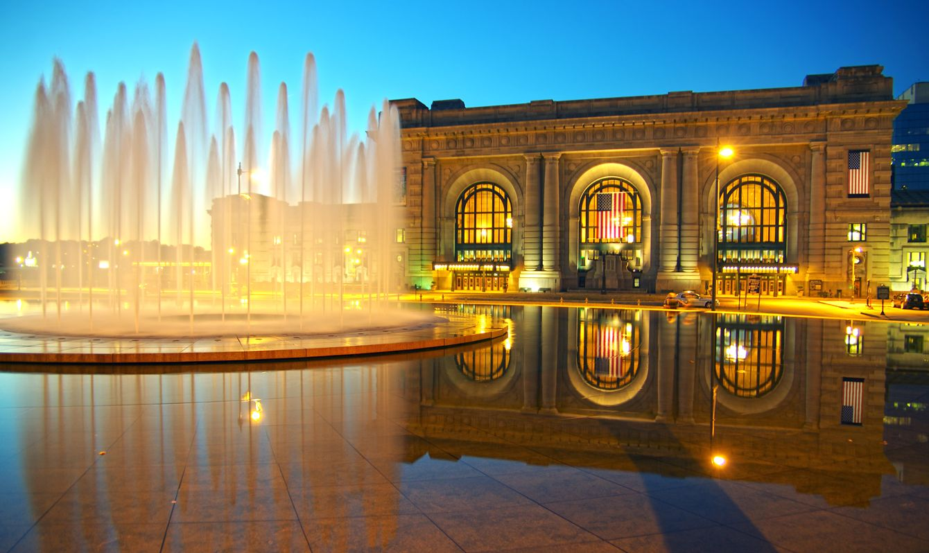 """""""Bloch Fountain in front of Union Station, Kansas City, MO"""""""