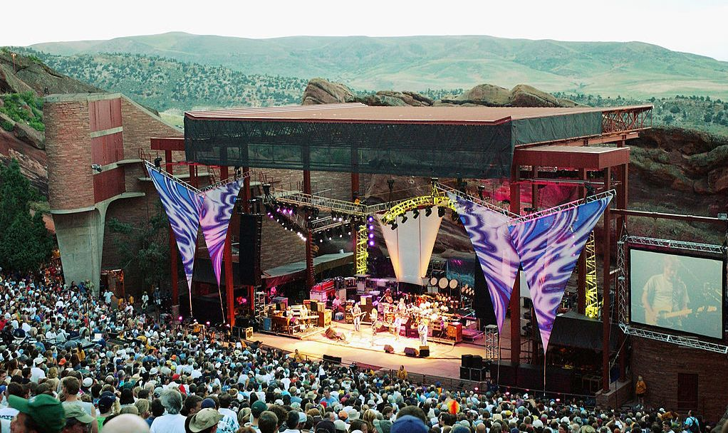 Fans of The Dead gather for a special engegement at the Red Rocks Amphitheater July 6, 2003 in Morisson, Colorado. The Dead are currently touring the U.S. with their Summer Getaway tour.
