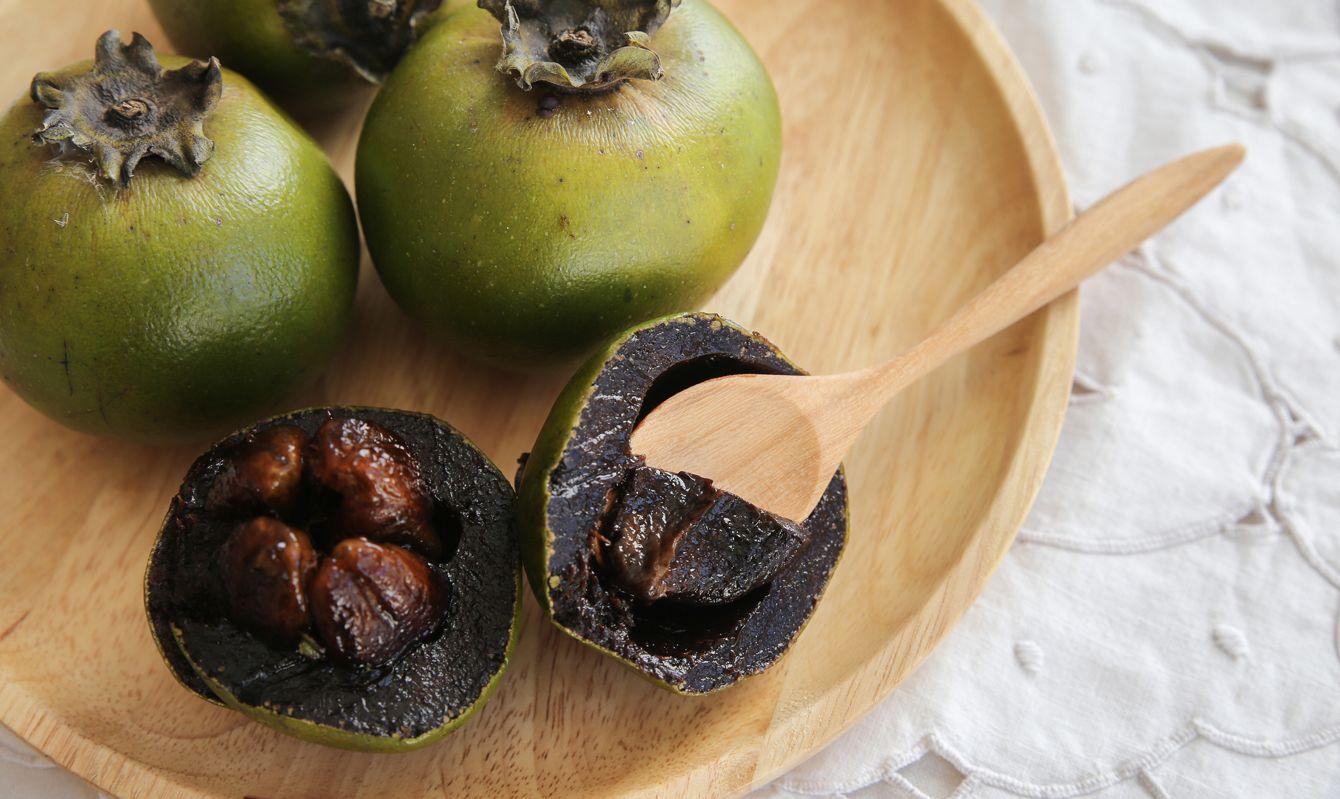 Australian Black Sapote or Chocolate Pudding Fruit
