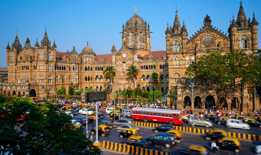 Chhatrapati Shivaji Terminus in Mumbai, India train station