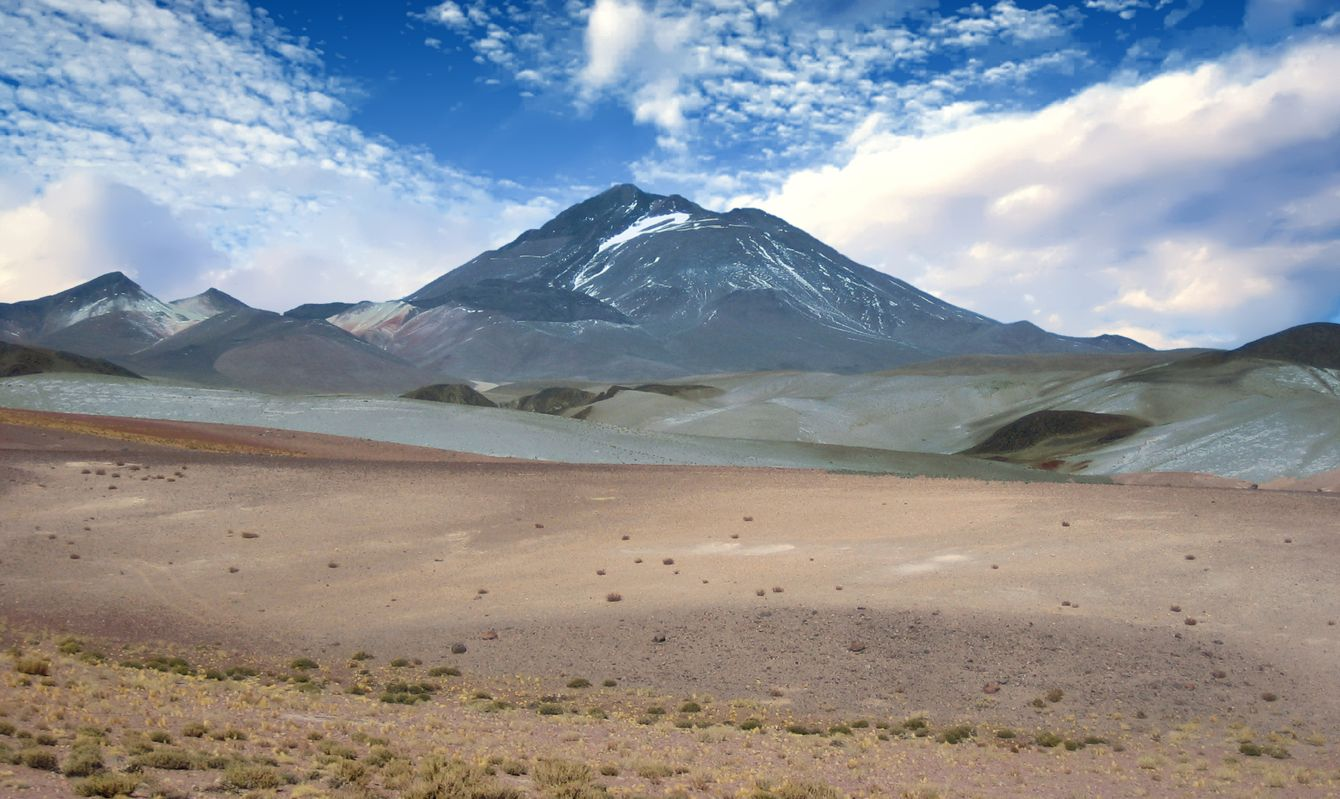 Llullaillaco Volcano in the Province of Salta, Argentina
