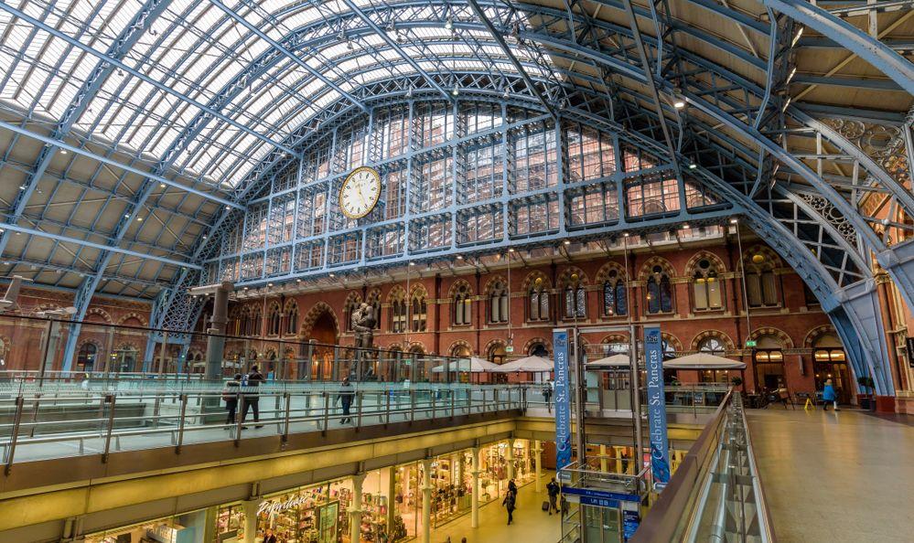 St. Pancras International train station london england