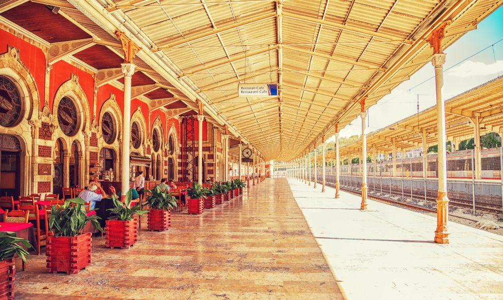 Sirkeci Terminal in Istanbul, Turkey trains tation