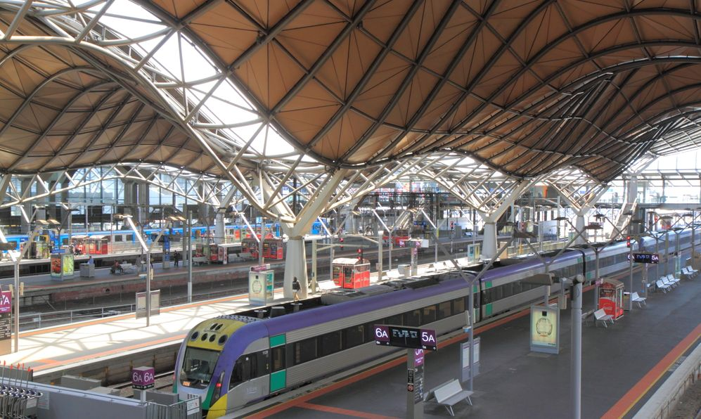 Southern Cross Station in Melbourne, Australia