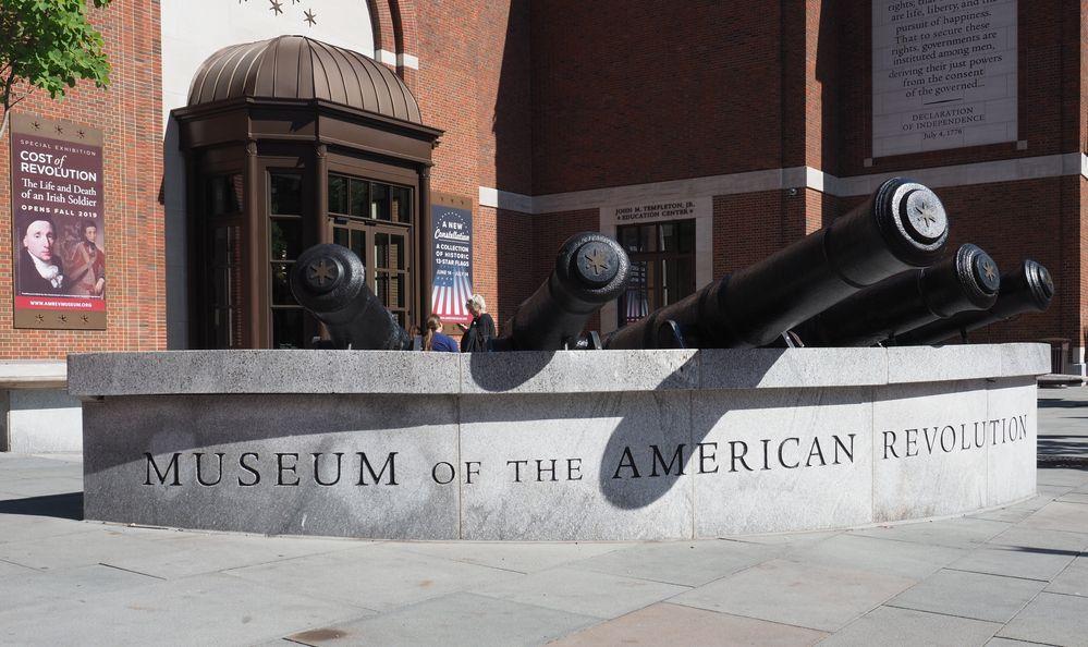 Cannons outside the Museum of the American Revolution, Philadelphia, Pennsylvania