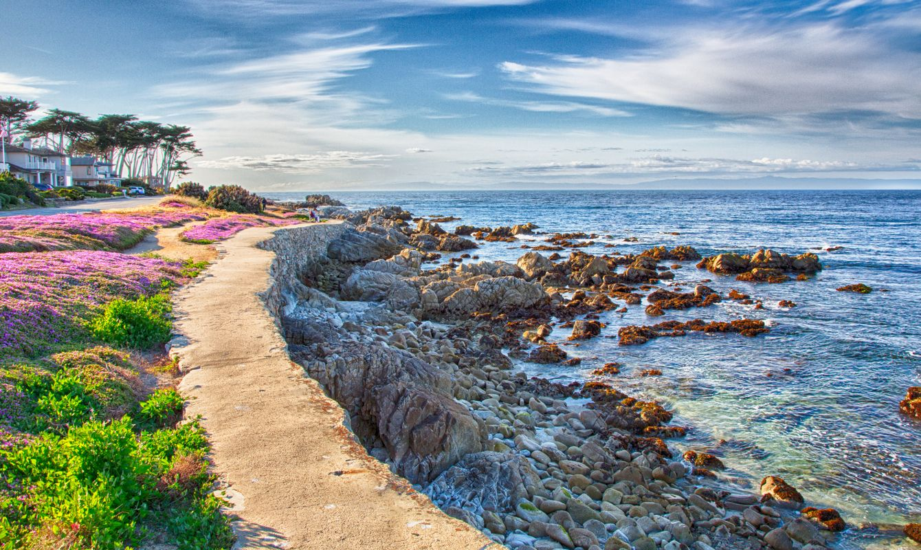 Pacific Grove, California's walkways and parks along the beach make for a relaxing stroll.
