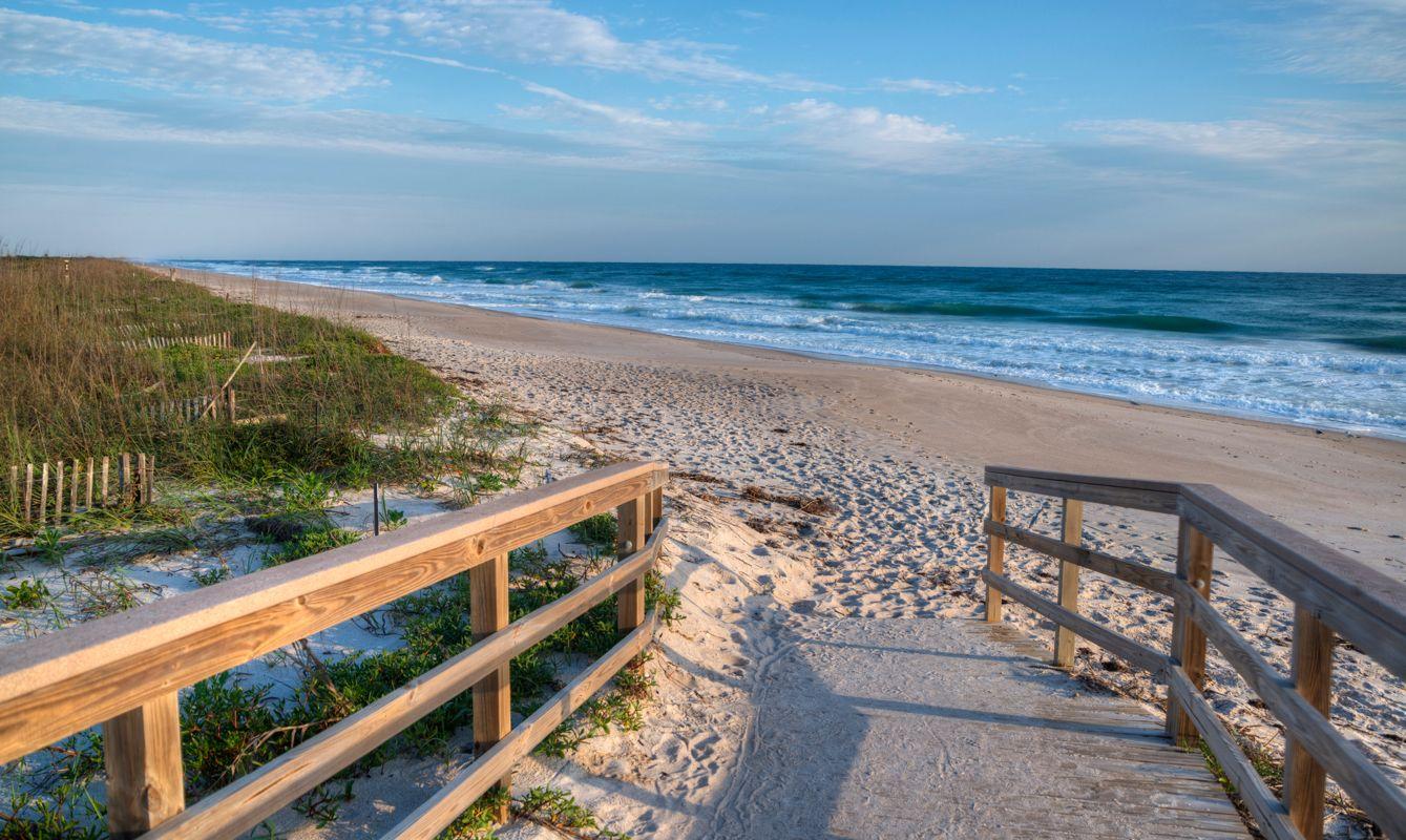 Morning at Canaveral National Seashore in Florida.