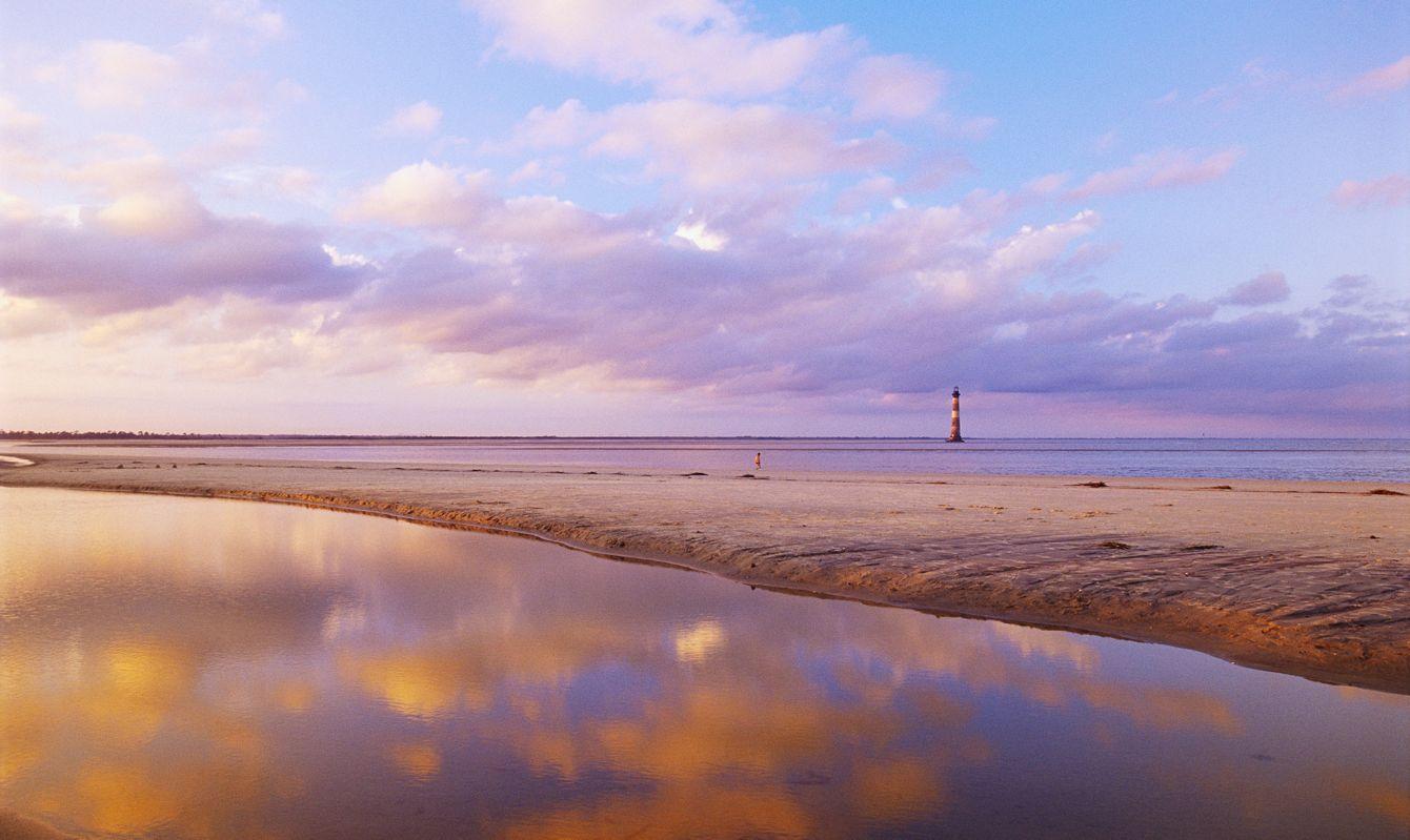 Morris Island Lighthouse From Folly Island Beach