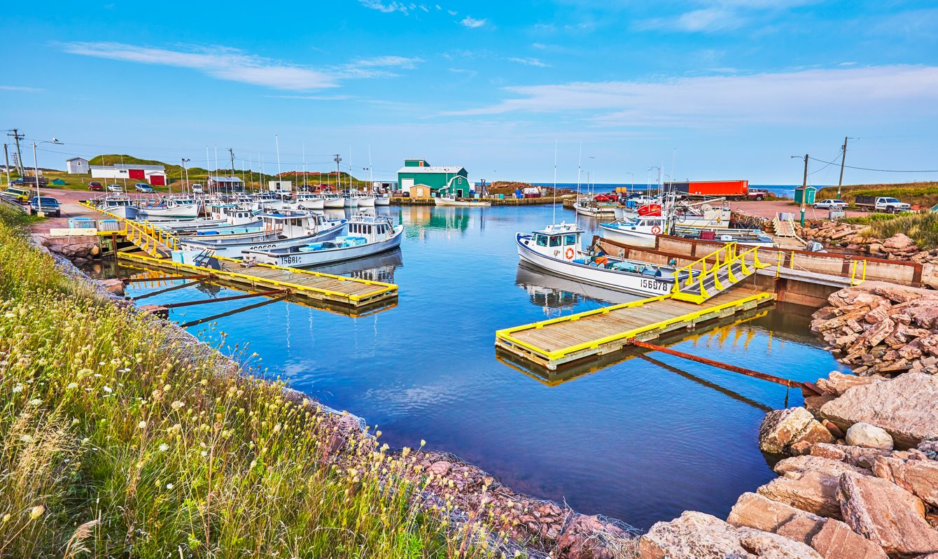 Fishing boat Harbour at SeaCow Pond at the North Coast of Prince Edward Island,Canada