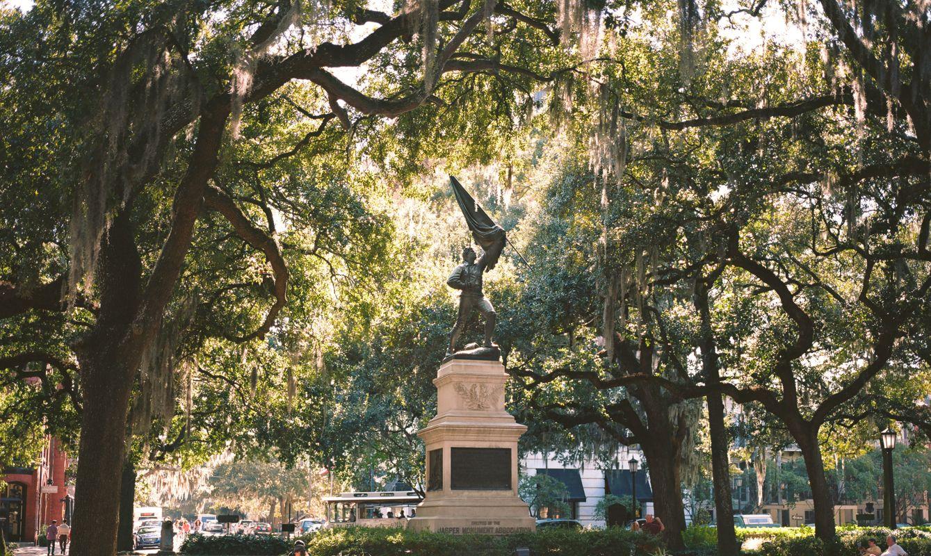 Sgt. William Jasper Memorial in Madison Square Savannah, Georgia