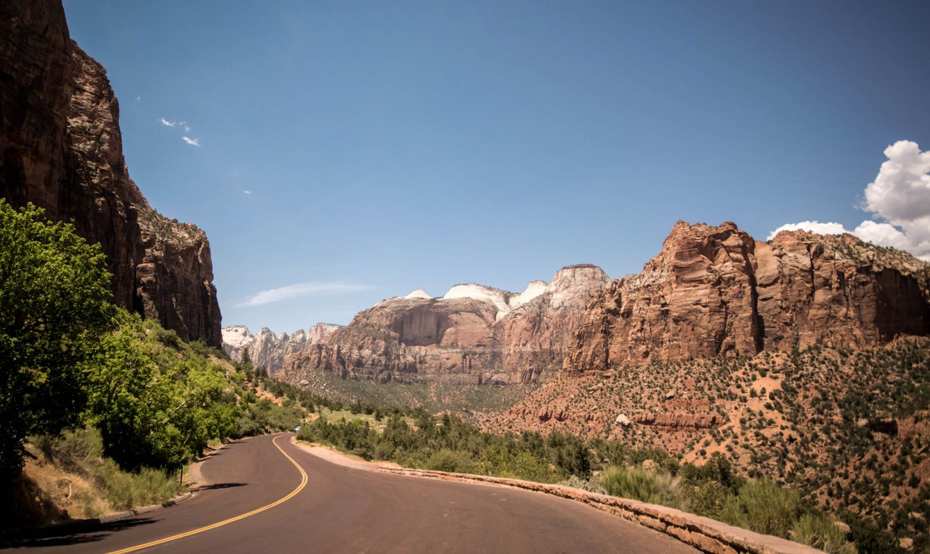 Rocks and canyons in Zion