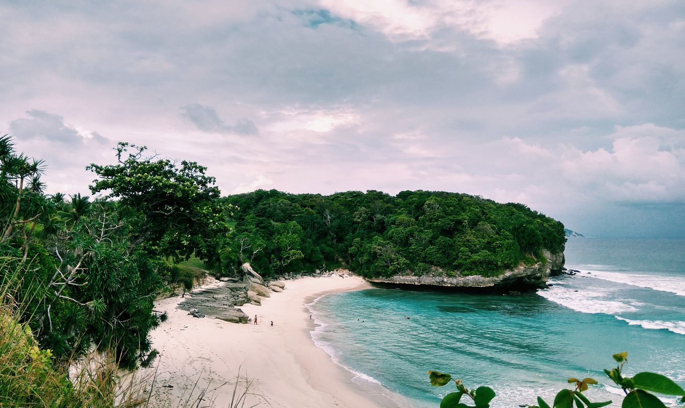 Sandy beaches of West Sumba district, Indonesia