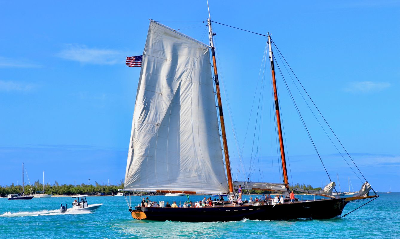 Sail boat on the waters in Key West, Key West, United States