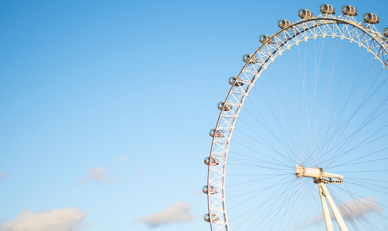 The London Eye on a clear day