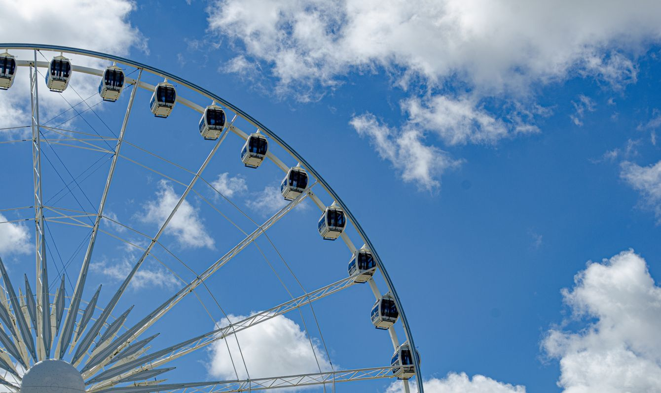 Niagara SkyWheel with clouds in background