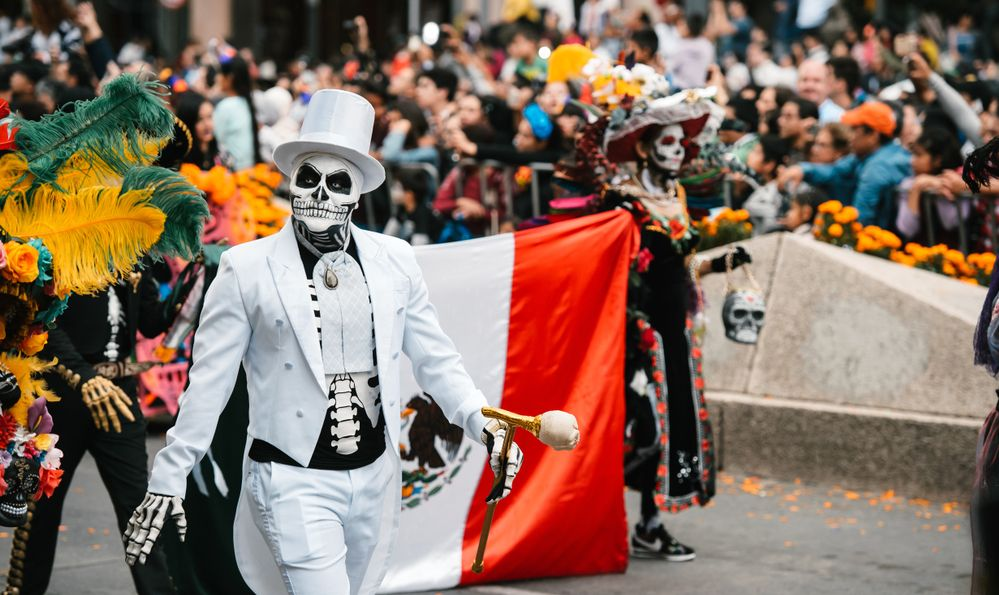 Parade in honour of The day of the Dead