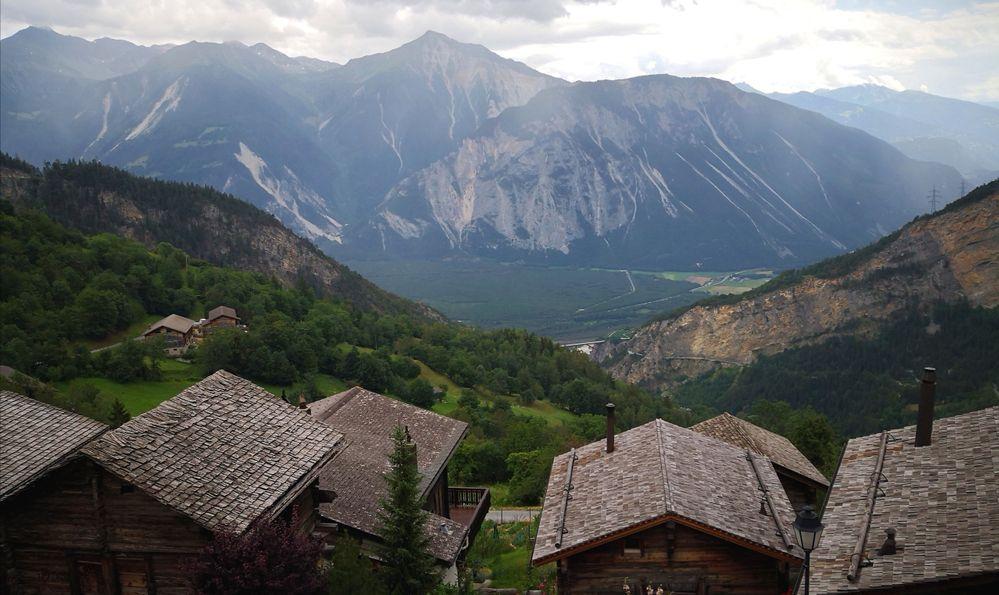 mountain view from Albinen, Switzerland
